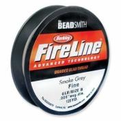 FireLine Braided Beading Thread 2.7kg SMOKE GREY .008 In 125 Yards