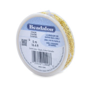 Beadalon 2.3mm Jewellery Making Chain, 5m, Dapped Small Cable, Gold