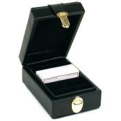 Black Leather Diamond & Gemstone Parcel Paper Travel Case Organiser 5 3 /20cm