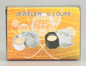Silver Folding 30x 21mm Jewellers Eye Loupe Magnifier Magnifying Glass Powerful