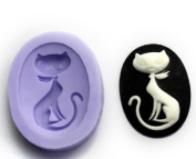 Cute Cat Silicone Resin Clay Moulds Handmade Resin Mould Polymer Clay Mould