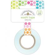 Doodlebug Washi Tape, 15mm by 12-Yard, Rainbow Dots