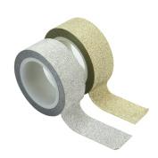 2 Roll Washi DIY Glitter Tape Self Adhesive Scrapbooking Card Decoration Craft
