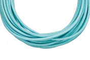 Full-grain leather cord, 2mm round Turquoise 5 yard