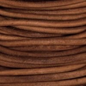 Premium Natural Dye Light Brown Round Leather Cord 2mm x 10m