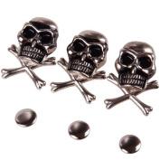 10Pcs 15mm Cool Skull Ghost Rivet Stud Punk for Bracelet Bag Leather DIY Craft