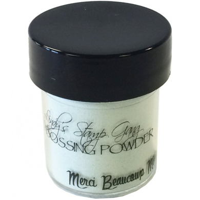 Lindy's Stamp Gang 2-Tone Embossing Powder, 15ml, Merci Beaucoup Mint
