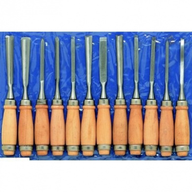 12pc Set Wood Hand Carving Artist Chisels .... !