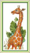 AngelGift Needlecrafts Stamped Counted Cross Stitch, Animals - The Giraffe