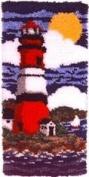 WonderaArt Caron 20 X 20 Latch Hook Kit Lighthouse