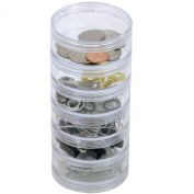 CNTB111-6 Storage Stackable Containers 6 For Beads Crafts 7cm Round
