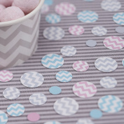 Ginger Ray Blue, Pink and Grey Table Party Confetti - Chevron Divine