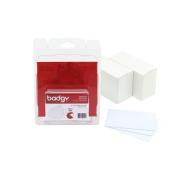 Badgy 20MIL 0.50MM Thick PVC Plastic Cards Qty 100