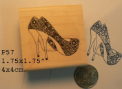 Sexy shoes rubber stamp P57
