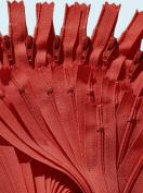 23cm Zipper YKK #3 Skirt & Dress ~ YKK Zippers Colour 820 ~ Atom Red