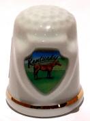 Kentucky State Souvenir Collectible Lpco Thimble
