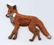 Red Fox Iron on Embroidered Patch