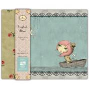 Trimcraft Fabric Cover Snap Load Album, 30cm by 30cm , Santoro Mirabelle, Adrift