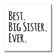 ht_151535_3 InspirationzStore Typography - Best Big Sister Ever - Gifts for elder and older siblings - black text - Iron on Heat Transfers - 10x10 Iron on Heat Transfer for White Material