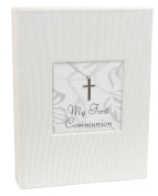 Stephan Baby Inspirational Keepsake Mini Photo Album with Silver Cross, My First Communion