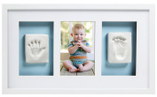 Pearhead Babyprints Deluxe Wall Frame, White