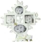 Dicksons Baby's Firsts with Jesus Loves Me Photo Frame, White