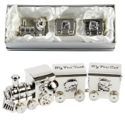 Silver Plated My First Tooth And My First Curl Storage Train By Haysom Interiors