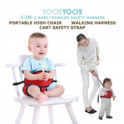 #1 Portable High Chair + Toddler Safety Harness + Shopping Cart Safety Strap. Great for Travel/Home. Winner of Mom's Choice Award 2014! Space-Saver High Chair! Money Back Guarantee - try with confidence.