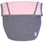 Rain or Shine Kids Pouch, Pink/Pewter