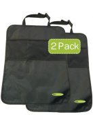 """Car Kick Mat and Organiser - 2 Count, With Free """"KIDS ON BOARD"""" Car Sticker-by Baby Mushroom- Premium Quality Car Back Seat Protectors-100% Lifetime Guarantee!"""
