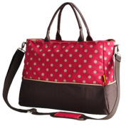 LANDUO Women's Baby Nappy Nappy Bag Tote Large Size Red