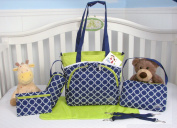 SoHo Collection, Chelsea 6 pieces Nappy Bag set .
