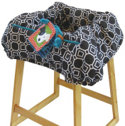 The Boppy Company Shopping Cart Cover, City Squares, Black, White
