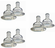 Born Free Level 2 Medium Flow Silicone Nipples, 6 Pack