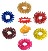 Acupressure Massage Sujok Ring in Assorted Colours Set of 4 pcs
