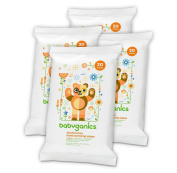 Babyganics Alcohol-Free Hand Sanitising Wipes, Mandarin, On-The-Go, 20 count reseal pack