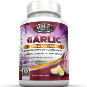 Top Rated Odourless Garlic - 1000mg Pure And Potent Garlic Allium Sativum Supplement (Maximum Strength) - Improve Your Overall Wellness - Made In The USA In A GMP & FDA Approved Facility - 60 Day Supply - 120 Softgels by BRI Nutrition