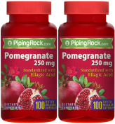 Pomegranate Extract 250 mg (Standardised) 2 Bottles x 100 Capsules