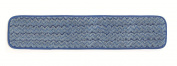 Rubbermaid Commercial FGQ41100BL00 HYGEN Microfiber Room Mop Pad, Damp, Single-Sided, 60cm , Blue