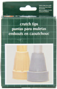 Replacement Crutch Tips, X-Large - Grey
