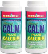Natural Vitality Natural Magnesium Calm Plus Calcium, Rasbpery Lemon