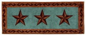 HiEnd Accents Star Print Rug, 60cm by 150cm , Turquoise