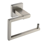 Angle Simple GB8209 Bathroom Toilet Roll Paper Holder, Brushed Steel