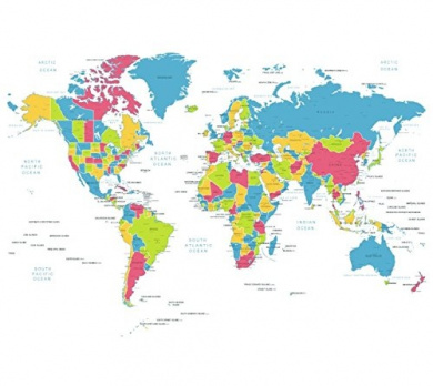 Feeten no mildew waterproof world map shower curtain with hooks by feeten no mildew waterproof world map shower curtain with hooks gumiabroncs Gallery