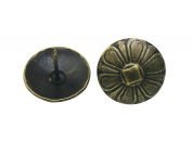 Generic Flower Shape Large-headed Nail 2.3cm Diameter Colour Antique Brass Pack of 50