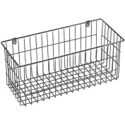 multi-purpose Chrome-plated steel Large Wire Basket 34cm x 15cm metal wall-mounted