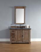 James Martin 238-105-5211-BLK Providence 120cm Driftwood Single Vanity with Absolute Black Rustic Stone Top