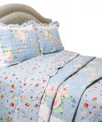 Pegasus Home Fashions Vintage Collection Blue Ridge Quilt/Sham Set, King