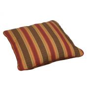 Mozaic Corded Indoor/Outdoor Square Floor Pillow, 70cm , Autumn Stripe