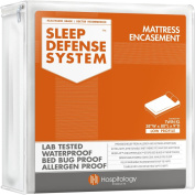 The Original Sleep Defence System - Waterproof / Bed Bug / Dust Mite Proof - PREMIUM Zippered Mattress Encasement & Hypoallergenic Protector - 100cm by 200cm , Twin XL - LOW PROFILE 23cm